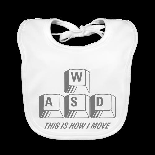 T-shirt Premium, WASD This is how I move - Ekologisk babyhaklapp