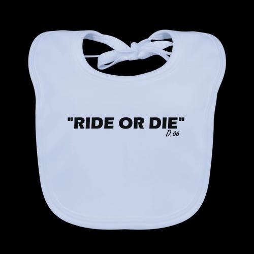 Ride or die (noir) - Bavoir bio Bébé