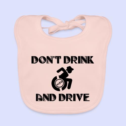 Niet tegelijk drinken en rijden in je rolstoel - Bio-slabbetje voor baby's