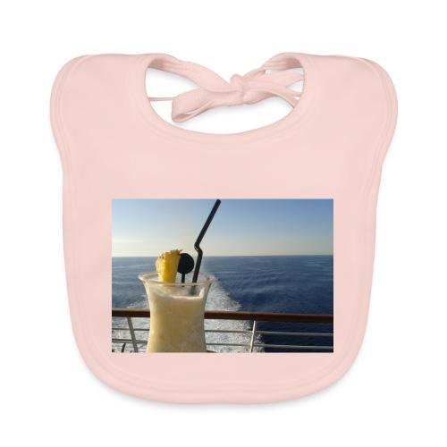 Cocktail Kreuzfahrt Meer Foto Schiff Ananas - Baby Bio-Lätzchen