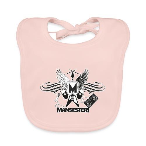 Mansesteri logo - Vauvan luomuruokalappu