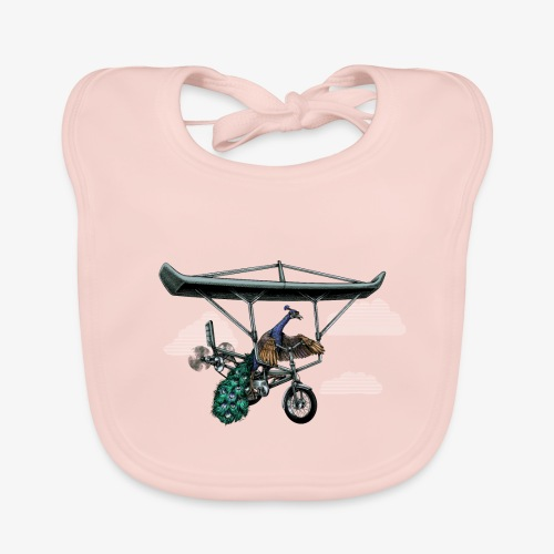 Flight of the Peacock - Baby Organic Bib