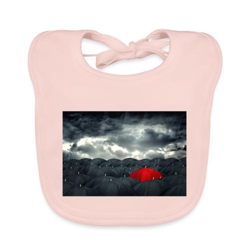 Der rote Regenschirm - Baby Bio-Lätzchen