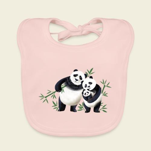 Pandafamilie Baby - Baby Bio-Lätzchen