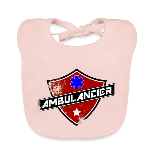 blason_ambulancier_grunge - Bavoir bio Bébé