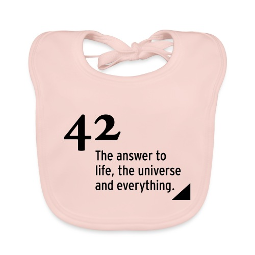 42 - the answer - Baby Bio-Lätzchen