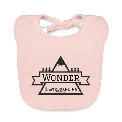 Wonder hoodie no hat - Mountain logo - Hagesmække af økologisk bomuld