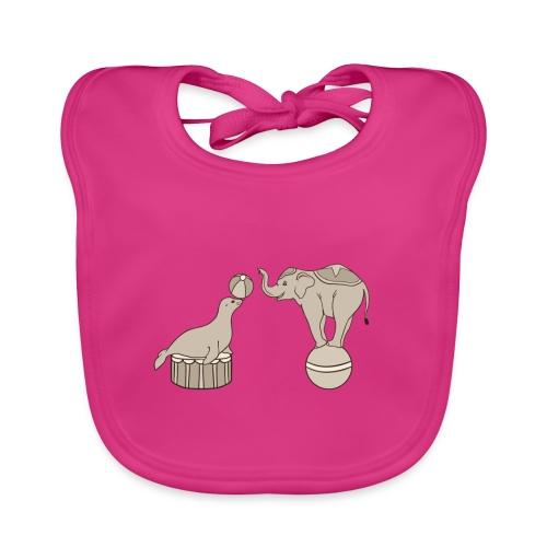 Circus elephant and seal - Baby Organic Bib