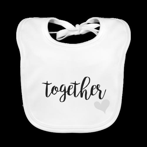 Forever ... together grau - Baby Bio-Lätzchen