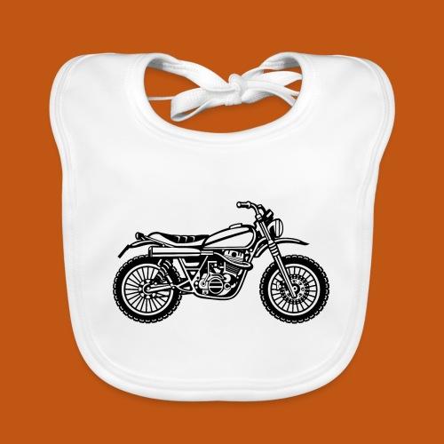 Motocross Enduro Motorrad 01_schwarz weiß - Baby Bio-Lätzchen