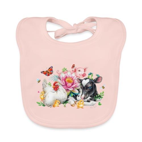 animals summer - Organic Baby Bibs