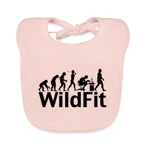 WildFit Logo Evolution in Schwarz - Baby Bio-Lätzchen