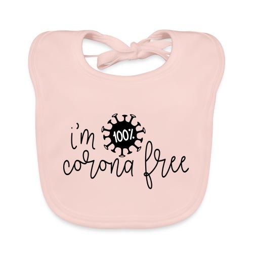 Ik ben coronavirus vrij. Stop de coronavirus - Bio-slabbetje voor baby's