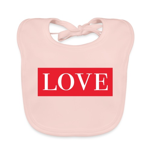 Red LOVE - Organic Baby Bibs