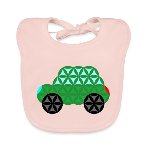 The Car Of Life - M02, Sacred Shapes, Green/363 - Organic Baby Bibs