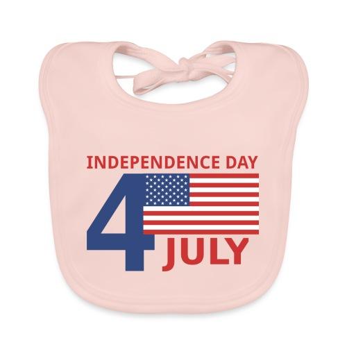 4 luglio giorno della indipendenza - Bavaglino ecologico per neonato