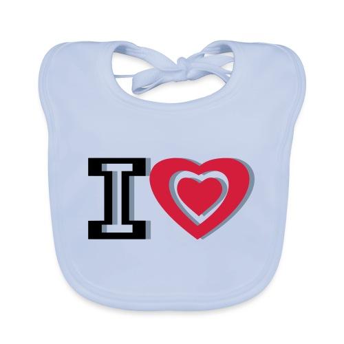 I LOVE I HEART - Baby Organic Bib
