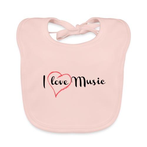 I Love Music - Bavaglino ecologico per neonato