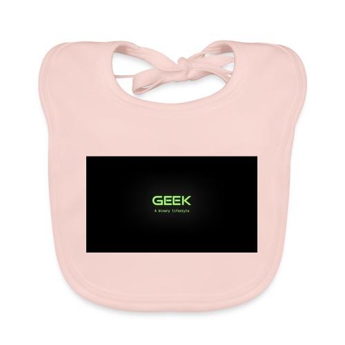 geek_binary_life_style - Babero de algodón orgánico para bebés