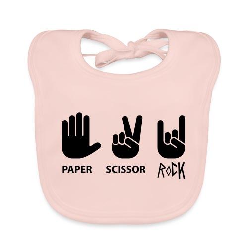 paper scissor rock - Bio-slabbetje voor baby's