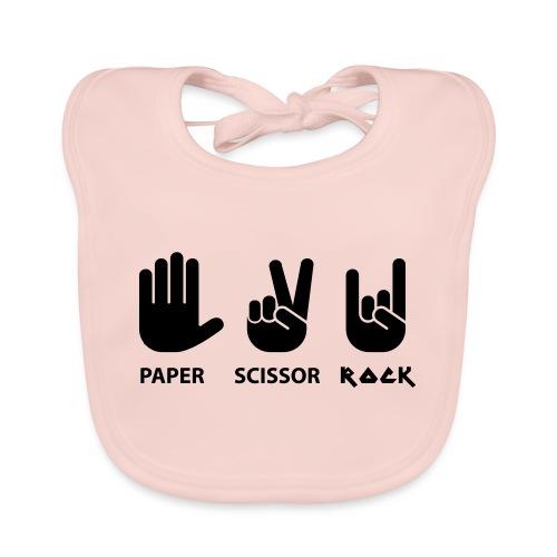 paper scissors rock c - Bio-slabbetje voor baby's