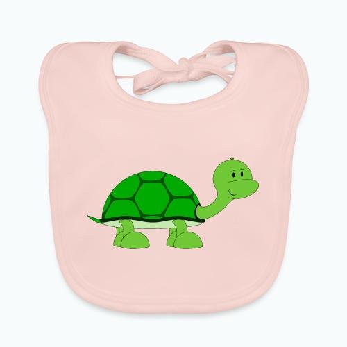 Totte Turtle - Appelsin - Ekologisk babyhaklapp