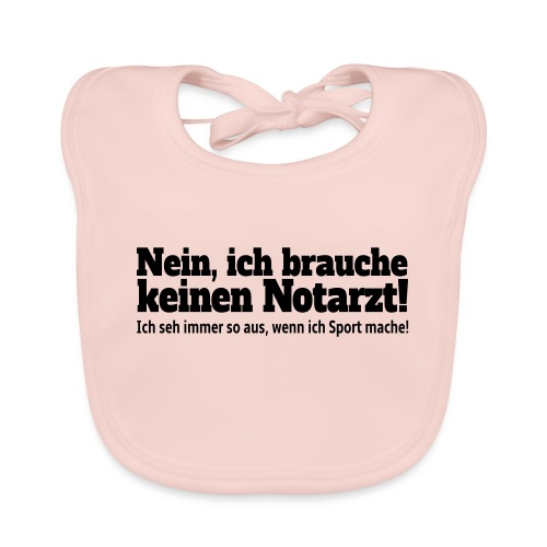 Sport Spruch - Baby Bio-Lätzchen