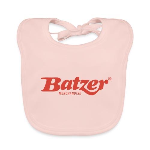 Batzer logo Rood - Bio-slabbetje voor baby's