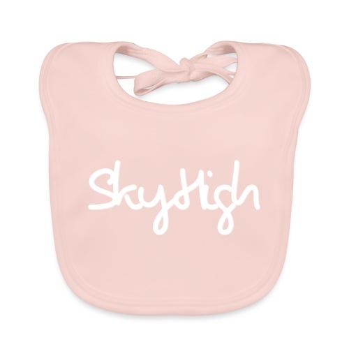 SkyHigh - Women's Hoodie - White Lettering - Baby Organic Bib