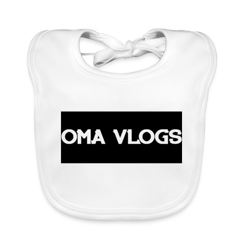 Oma Vlogs Black Logo - Organic Baby Bibs