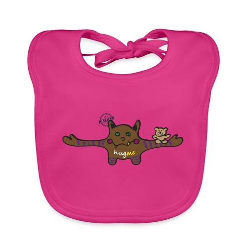 Hug me Monsters - Every little monster needs a hug - Baby Organic Bib