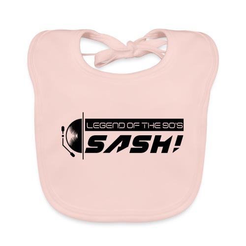 DJ SASH! Turntable 2020 Logo - Baby Organic Bib