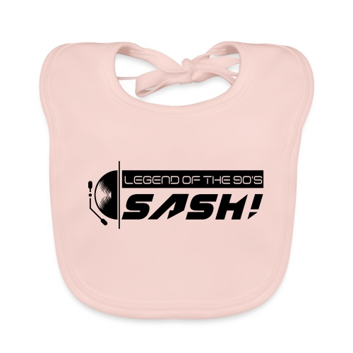 DJ SASH! Turntable 2020 Logo - Organic Baby Bibs