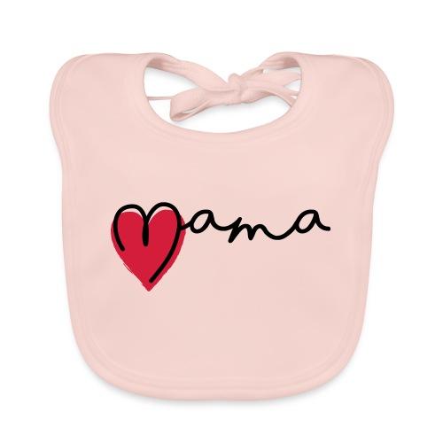 Slogan super mama, Liefde, hartje. Baby cadeau - Bio-slabbetje voor baby's