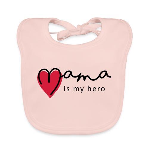 Slogan mama is my hero, is mijn held. Baby cadeau - Bio-slabbetje voor baby's