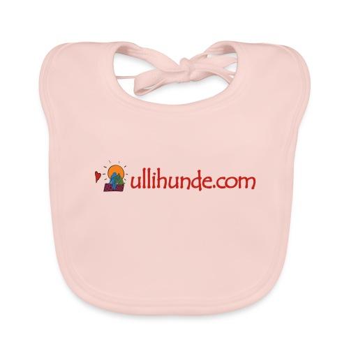 Ullihunde Schriftzug mit Logo - Baby Bio-Lätzchen