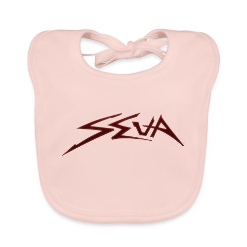 SEUA logo Speedy red - Ekologisk babyhaklapp