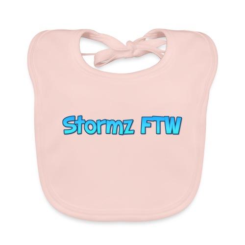 Stormz FTW blue and white fade - Baby Organic Bib