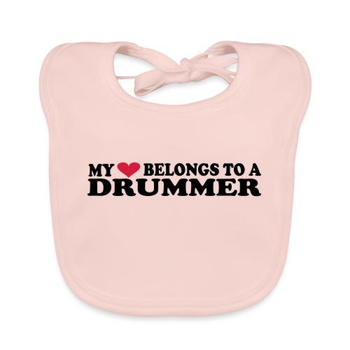 MY HEART BELONGS TO A DRUMMER - Baby Organic Bib