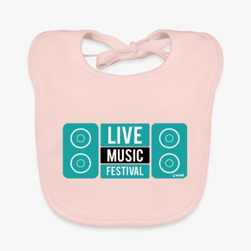 Amo la música - Babero ecológico bebé
