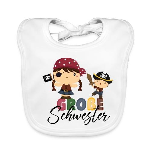 Große Schwester Piraten - Baby Bio-Lätzchen