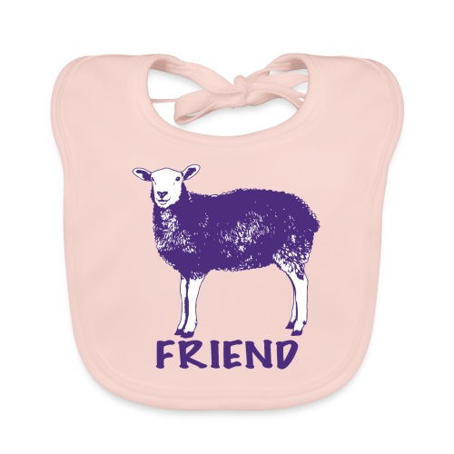 kids merch sheep Marion - Baby Organic Bib