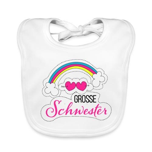 Große Schwester Regenbogen - Baby Bio-Lätzchen