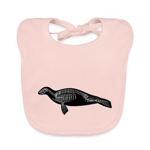 Robben skelet - Bio-slabbetje voor baby's