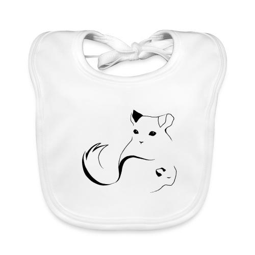 logo erittain iso mustana 1 png - Vauvan luomuruokalappu