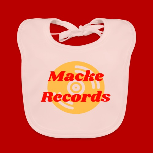 mackerecords merch - Ekologisk babyhaklapp