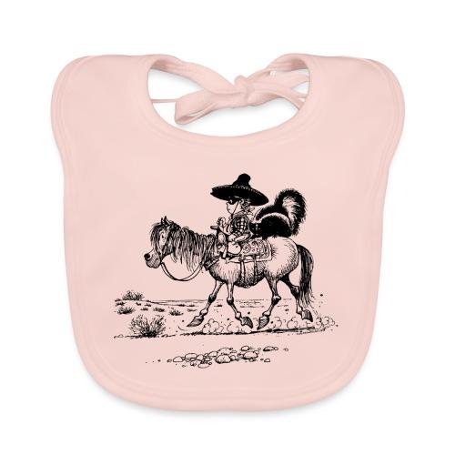 Thelwell Cowboy mit einem Stinktier - Baby Bio-Lätzchen