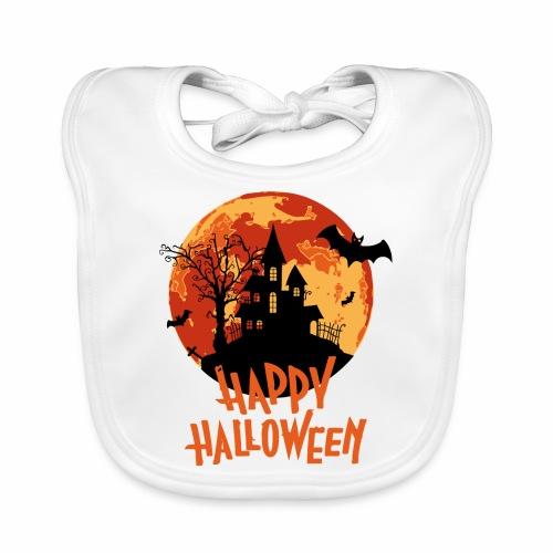 Bloodmoon Haunted House Halloween Design - Baby Bio-Lätzchen