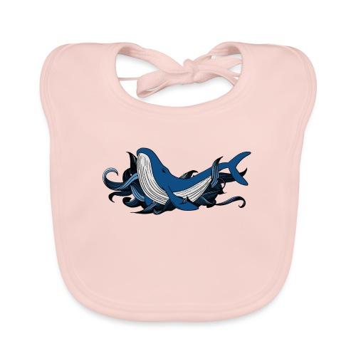 Doodle ink Whale - Bavaglino ecologico per neonato