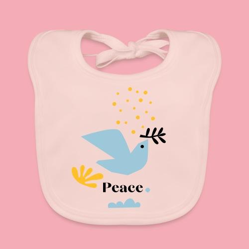 Taube Peace - Baby Bio-Lätzchen